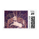 Vintage Unicorn In Captivity Tapestry Stamps