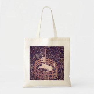 Vintage Unicorn In Captivity Tapestry Tote Bag