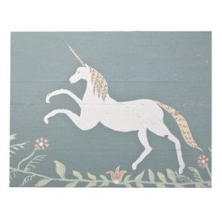 Vintage unicorn memo pad
