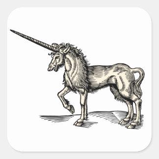 Vintage Unicorn Square Sticker