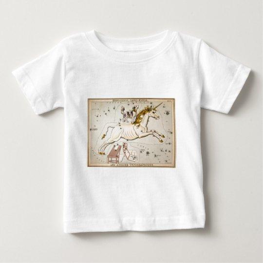 Vintage Unicorn Star Constellation  Map Baby T-Shirt