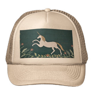 Vintage unicorn trucker hat