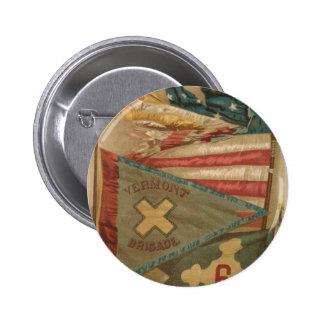 Vintage Union Battle Flags Vermont Pinback Button