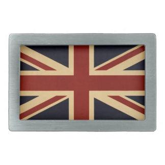 Vintage Union Jack British Flag Rectangular Belt Buckle