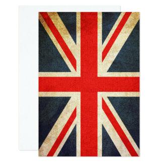 Vintage Union Jack British Flag Invitation Card