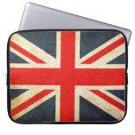 Vintage Union Jack British Flag Laptop Sleeve