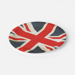 Vintage Union Jack British Flag Paper Plate  sc 1 st  Zazzle & Vintage Union Jack Plates | Zazzle