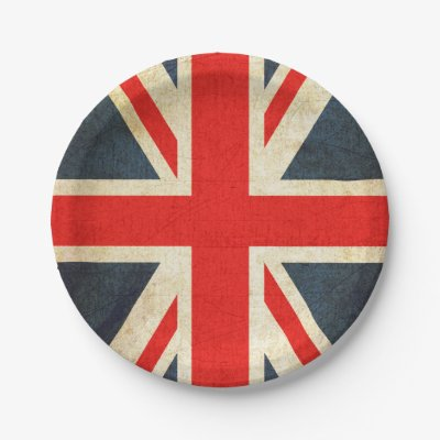 sc 1 st  Zazzle & Vintage Union Jack Royal Wedding Paper Plates