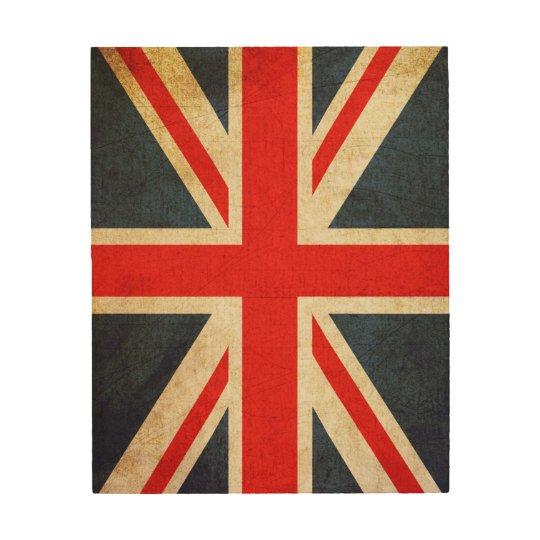 Vintage Union Jack British Flag Wood Photo Print | Zazzle