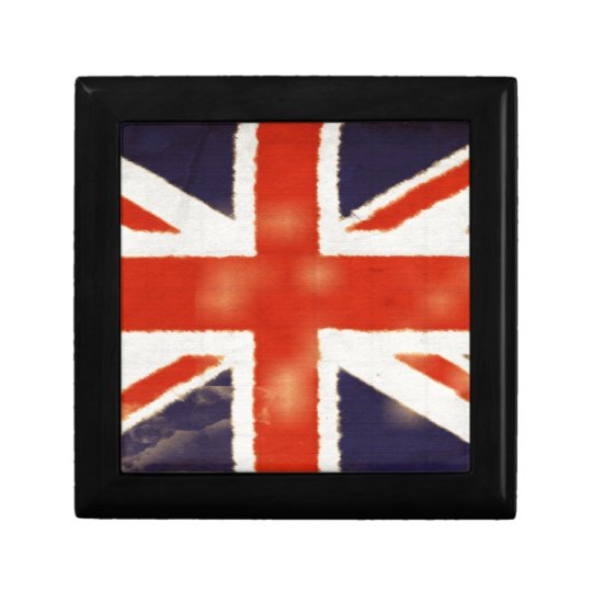 Vintage Union Jack Ceramic Tile Gift Box