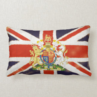 Vintage Union Jack Coat of Arms 2-Sided Pillow