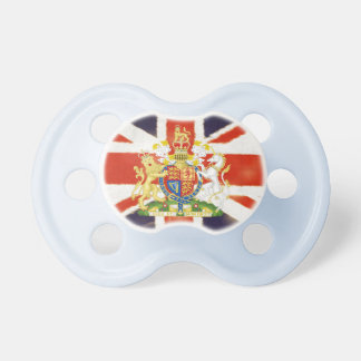 Vintage Union Jack Coat of Arms Baby Pacifier