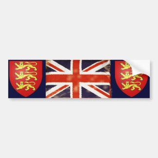 Vintage Union Jack Coat Of Arms Bumper Sticker