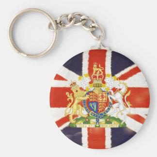 Vintage Union Jack Coat of Arms Keychain