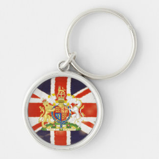 Vintage Union Jack Coat of Arms Premium Keychain