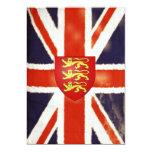 Vintage Union Jack con las invitaciones del escudo Anuncios