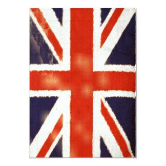 Vintage Union Jack Custom Invitation (Vertical)