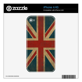 Vintage Union Jack Decals For The iPhone 4