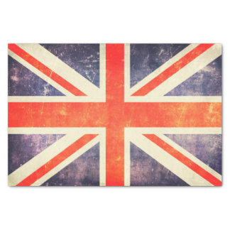 """Vintage Union Jack flag 10"""" X 15"""" Tissue Paper"""