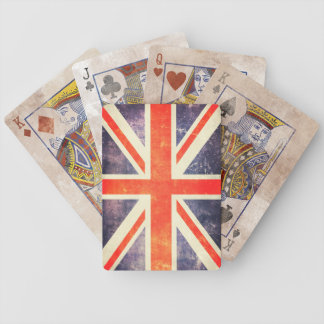 Vintage Union Jack flag Bicycle Playing Cards