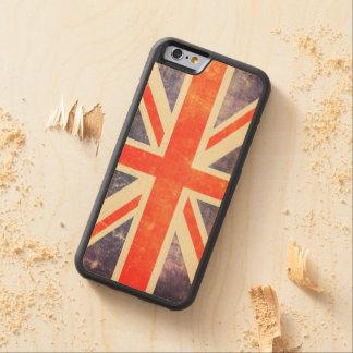 Vintage Union Jack flag Carved Maple iPhone 6 Bumper Case