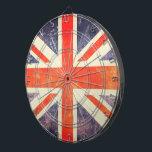 """Vintage Union Jack flag Dartboard<br><div class=""""desc"""">Hello this design represents the famous flag union jack in a version vintage and used.</div>"""