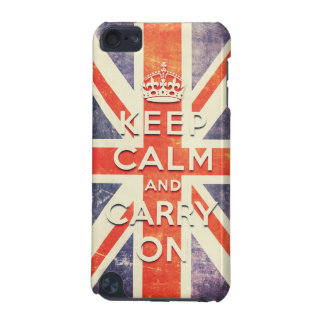 Vintage Union Jack flag keep calm and carry on iPod Touch (5th Generation) Case