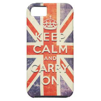Vintage Union Jack flag keep calm and carry on iPhone 5 Covers