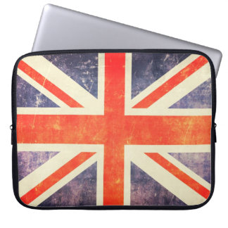 Vintage Union Jack flag Laptop Sleeves