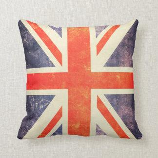 Vintage Union Jack flag Throw Pillows