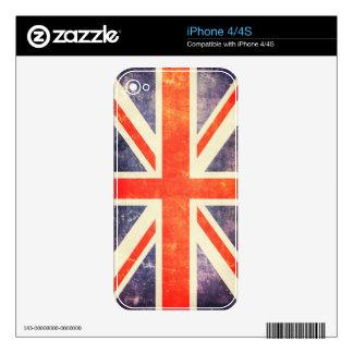 Vintage Union Jack flag Skins For iPhone 4