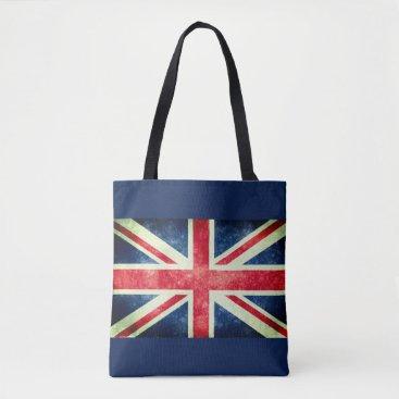 galxc_designs Vintage Union Jack Flag Tote Bag