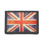 Vintage Union Jack flag Trifold Wallet