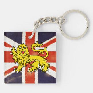 Vintage Union Jack Heraldry Lion Acrylic Keychain