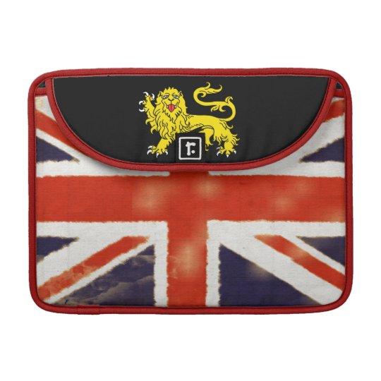 Vintage Union Jack Heraldry Lion MacBook Sleeve