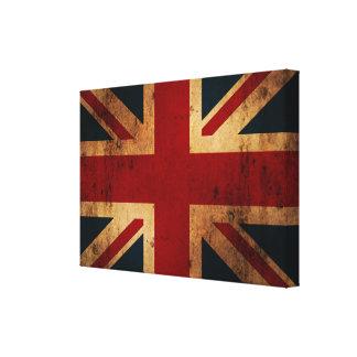 Vintage Union Jack Impresiones De Lienzo