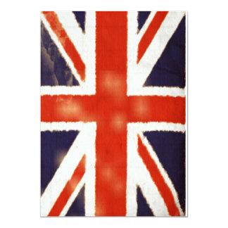 Vintage Union Jack Invitation (Vertical)