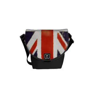 Vintage Union Jack Mini Messenger Commuter Bag Messenger Bag