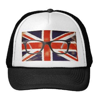Vintage Union Jack Nerdy Glasses Trucker Hat
