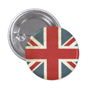 Vintage union jack pinback button