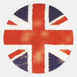 Vintage Union Jack Round Stickers