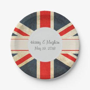 Vintage Union Jack Royal Wedding Paper Plates & Vintage Union Jack Wedding Gifts on Zazzle