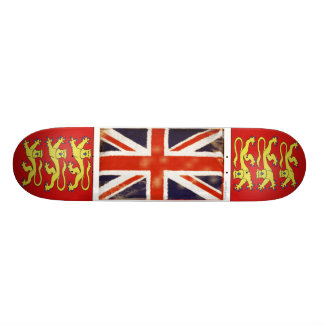 Vintage Union Jack Skate Deck with Coat of Arms