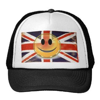 Vintage Union Jack Smiley Face Trucker Hat