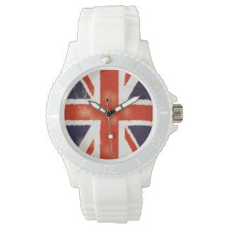 Vintage Union Jack Sporty UK Flag Silicone Watch