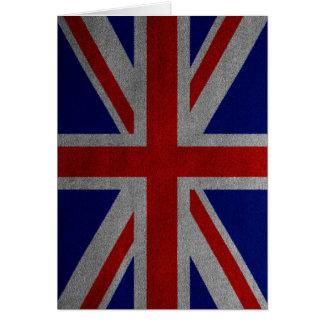 Vintage Union Jack United Kingdom British Flag Card