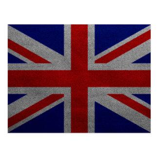 Vintage Union Jack United Kingdom British Flag Postcard