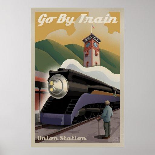Vintage Union Train Station Poster