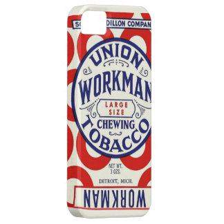 Vintage Union Workman Chewing Tobacco Poster iPhone SE/5/5s Case