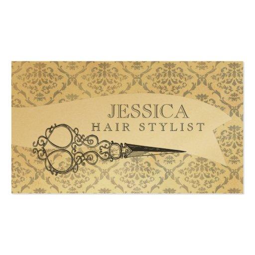 Vintage Unique Professional GOLD Hair Stylist Business